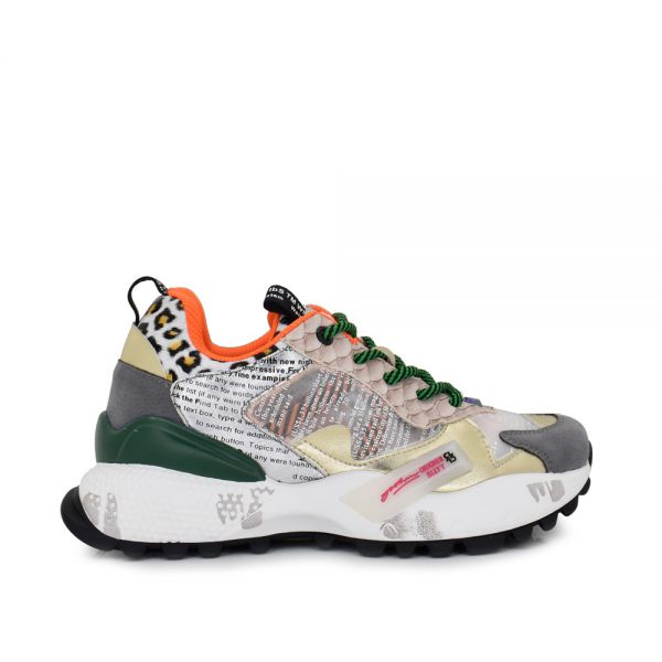 EXE SNEAKERS WITH GREEN DETAILS 19V03-6