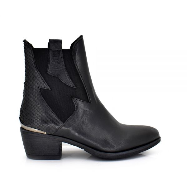 BOTINES ROCK BLACK BELA-422