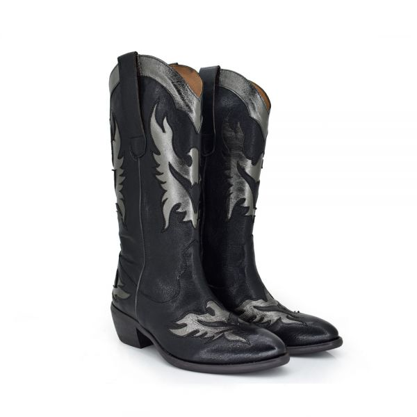 BOTAS WEST DETALLES PLATA DALLAS-912