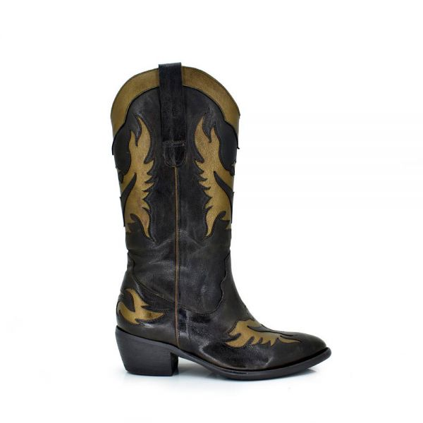 BOTAS WEST DETALLES GOLD DALLAS-912