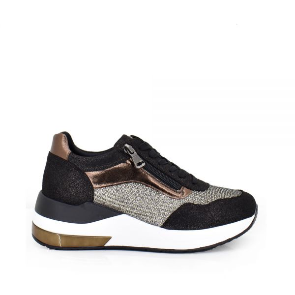 ZAPATILLAS BRONZE CON STRASS EX2220