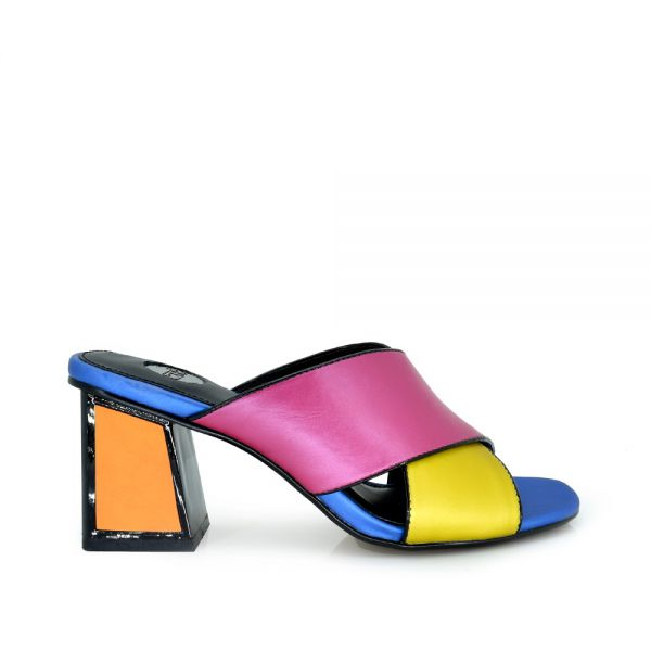 MULE TACON MULTICOLOR METALIZADA MINA-742