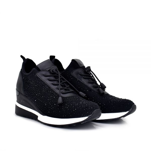SNEAKERS CALCETÍN CON STRASS BLACK RG2206