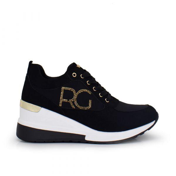 SNEAKER CON CUÑA RG EX06 BLACK-GOLD