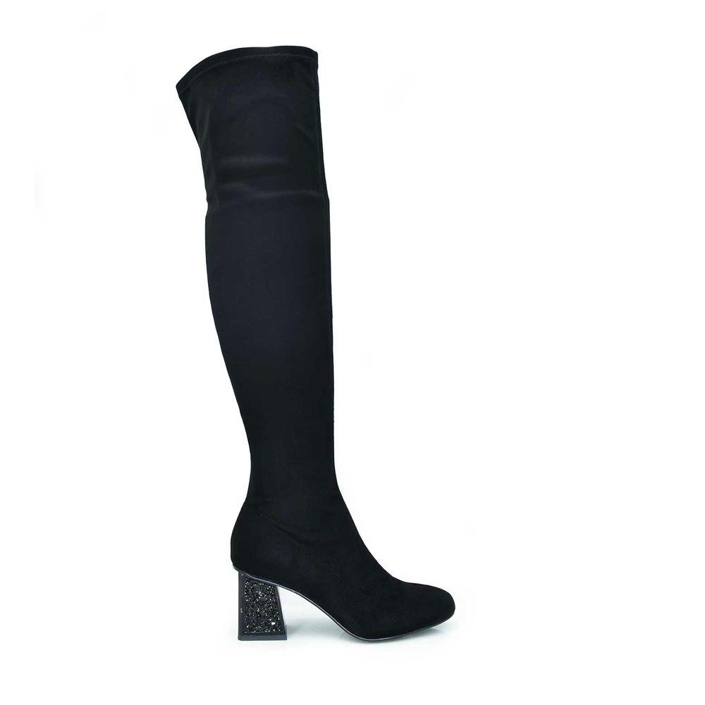 Botas altas de mujer con tacón de glitter Romina 911