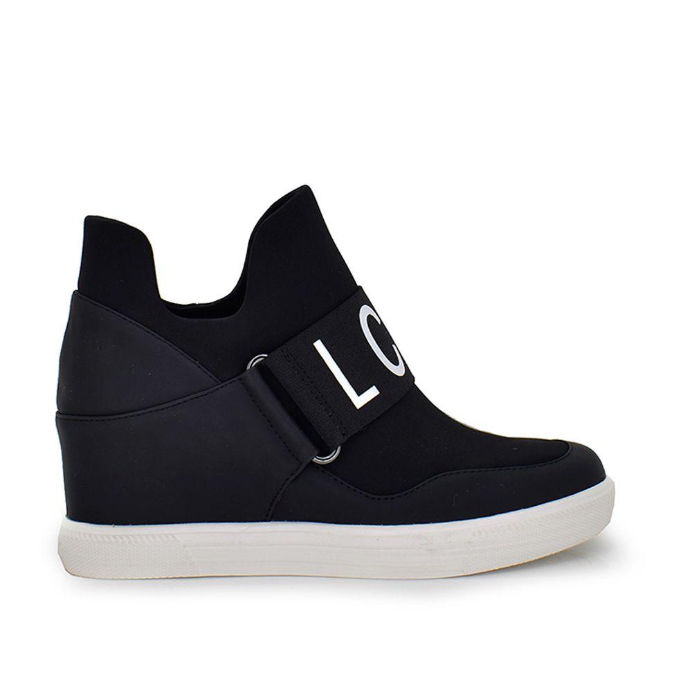 sneaker cuña deportiva letras cinta decorativa cuña centimetros altura