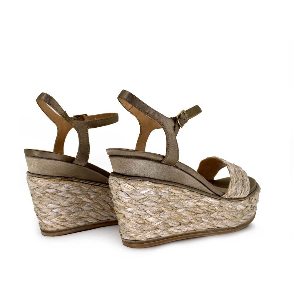 sandalia cuña de esparto mujer con cierre pulsera