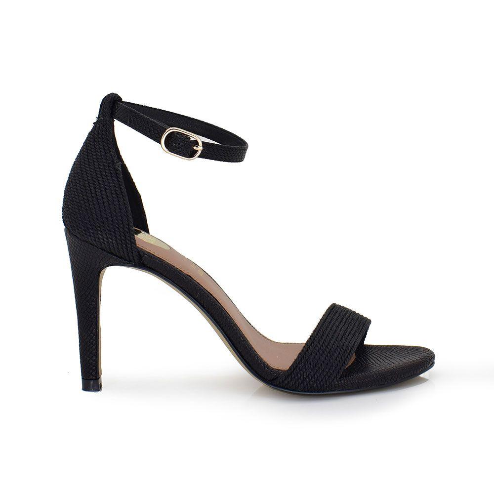 sandalia tacon pulsera negro mujer
