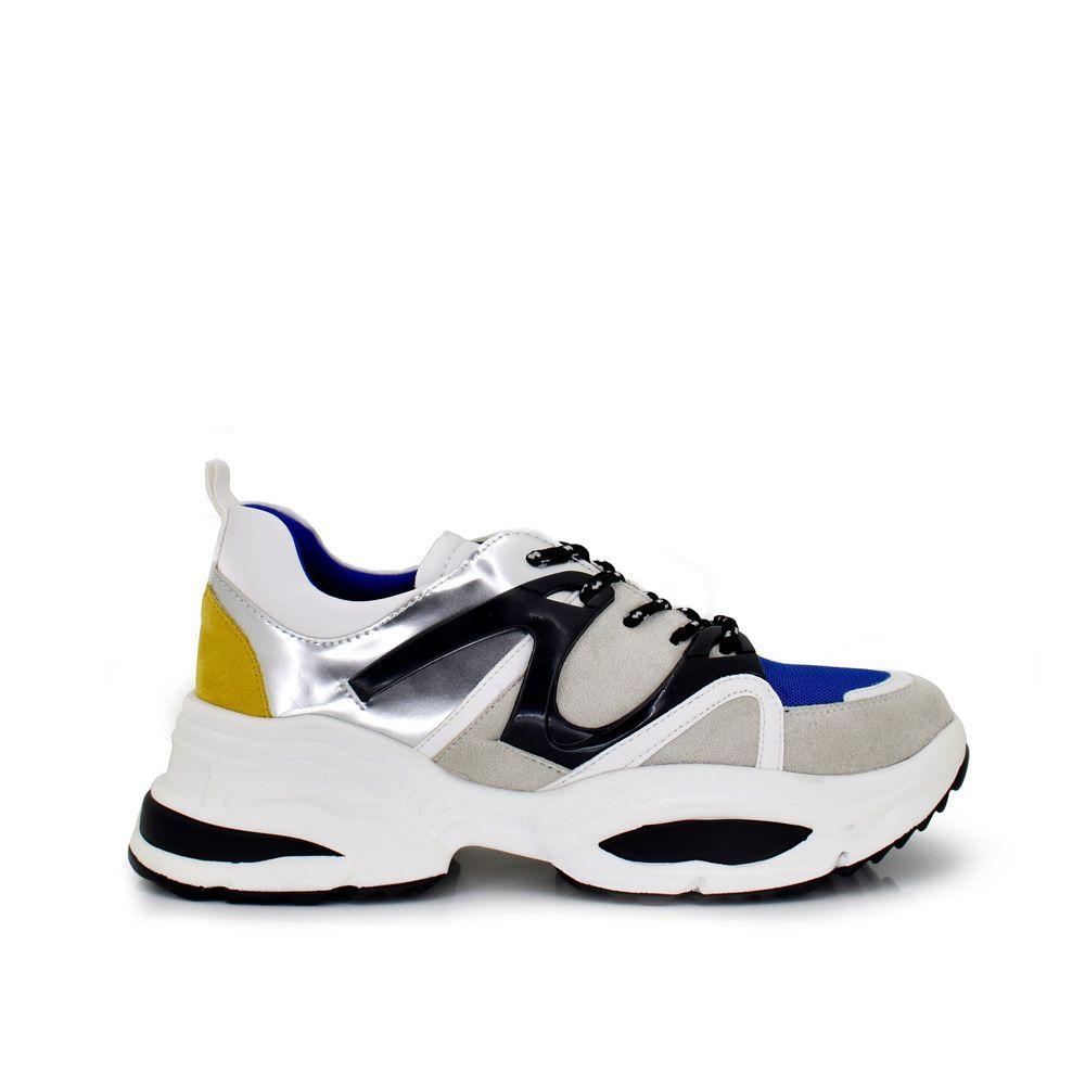sneakers zapatillas deportivas mujer con plataforma coloridas multicolor detalles lateral cordones