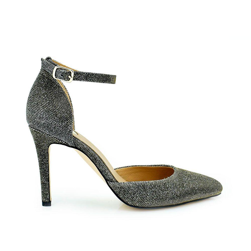 zapato tacon pulsera brillo