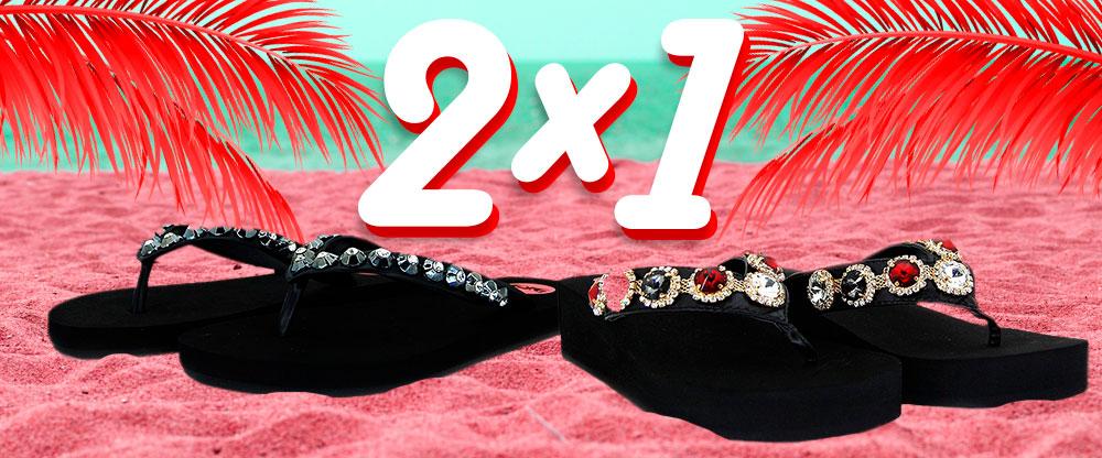 ¡2x1 en sandalias de playa¡